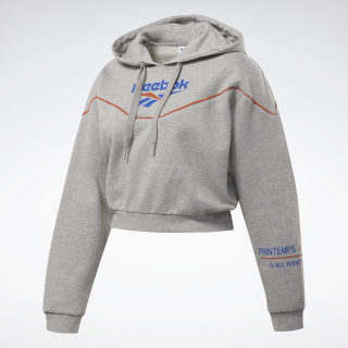 Sweat à Capuche avec un logo Classic Medium Grey Heather EJ8611
