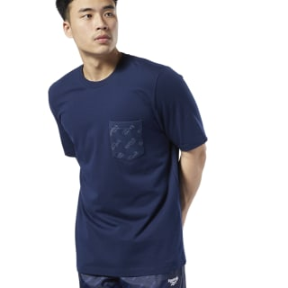 Camiseta Classics Logo Pocket Collegiate Navy EC4563