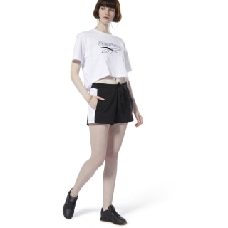 Classics French Terry Shorts Black / White DT7257
