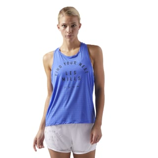 LES MILLS® Perforated Tank Acid Blue CD6167