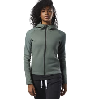 Худи Quik Cotton Full-Zip Green/Chalk Green D93895