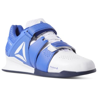 Reebok Legacy Lifter Men's Weightlifting Shoes White / Crushed Cobalt / Collegiate Navy DV4396