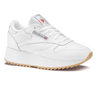 Classic Leather Double White / Silver Met / Gum DV6472