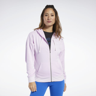 Bluza z kapturem Training Essentials Full-Zip Pixel Pink FJ2727