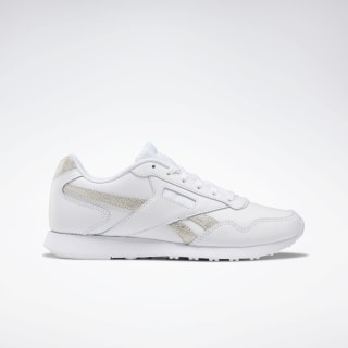 Reebok Royal Glide LX Shoes White / White / Gold Met DV6836