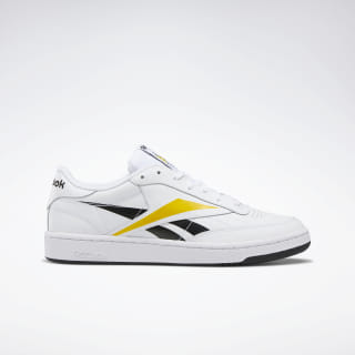 Club C 85 Shoes White / Black / Toxic Yellow EF8839