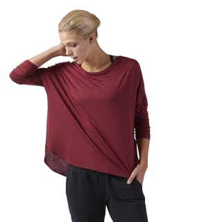 Training Supply Long Sleeve T-Shirt Urban Maroon CD3860