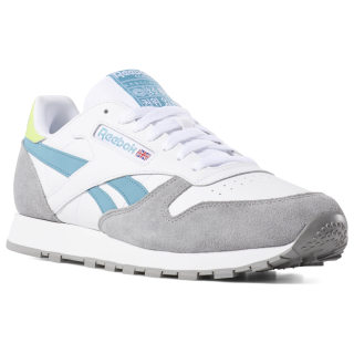 Кроссовки Classic Leather WHITE/GREY/MIST/NEON LIME DV3829
