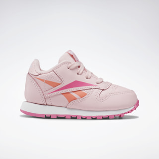 Classic Leather Shoes - Toddler Polished Pink / White / Polished Pink EF9155
