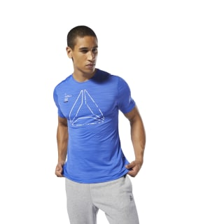 T-shirt à motif Training ACTIVCHILL Crushed Cobalt DP6553
