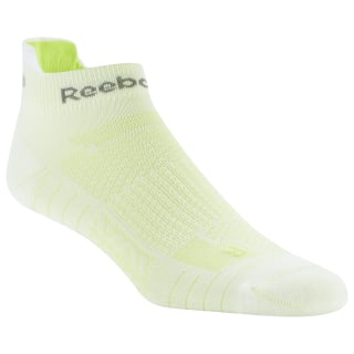 Medias unisex al tobillo Reebok ONE Series Running White / Neon Lime DU2779