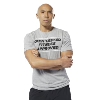 Reebok CrossFit® Open Tested T-Shirt Medium Grey Heather DY0485