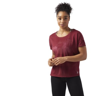 Speedwick Women's T-Shirt Urban Maroon CF5880
