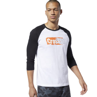 Reebok CrossFit® Sticker Rip Raglan Tee White / Black EC1488