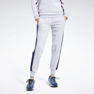 Pantaloni Classics Linear Fleece Light Grey Heather FK2789