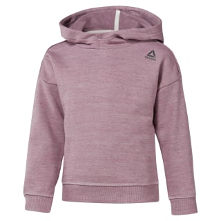 Girls Training Essentials Marble Melange Hoody Twisted Berry DJ3053