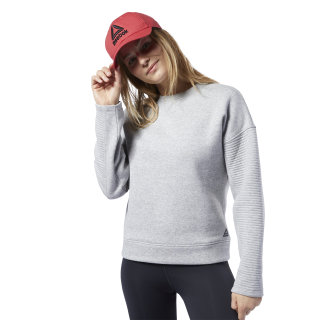 Sudadera de cuello redondo Workout Ready Medium Grey Heather DY8091