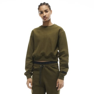 VB Cropped Sweatshirt Vb Army Green FQ7921