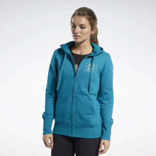 Reebok CrossFit® Full-Zip Hoodie Seaport Teal FJ5312