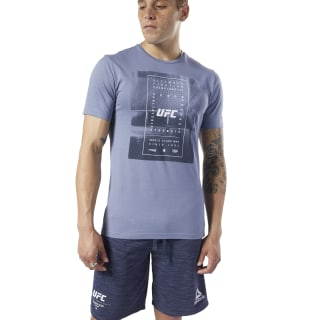 Remera UFC Fan Gear Text Washed Indigo EC1272