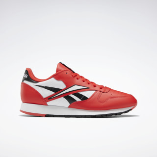 Classic Leather Shoes Black / Radiant Red / White EG6422