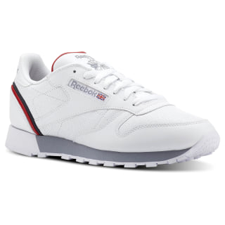 Classic Leather Sptlt-White / Collegiate Navy / Excellent Red CN3641
