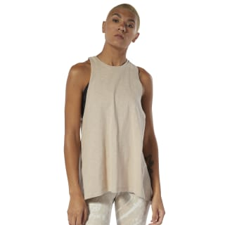 Combat Washed Slub Tank Top Light Sand DU4968