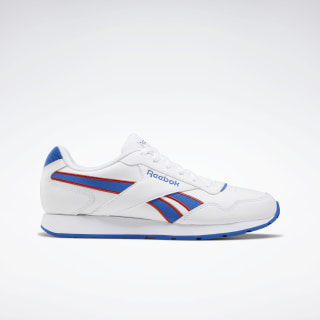 Reebok Royal Glide Shoes White / Humble Blue / Legacy Red EF7693