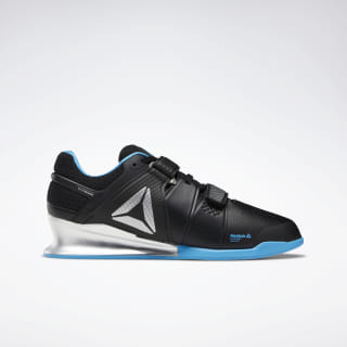 Reebok Legacy Lifter Men's Weightlifting Shoes Black / Bright Cyan / Matte Silver DV6224