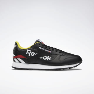 Classic Leather Shoes Black / White / Primal Red EG5289