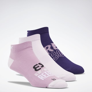 Foundation Invisible Socks 3 Pairs Jasmine Pink / Pixel Pink / Mystic Orchid FM4872