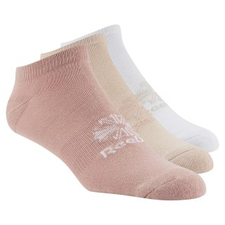 Classics Foundation Unisex No Show Sock - 3pair Chalk Pink/Bare Beige/White DH3423