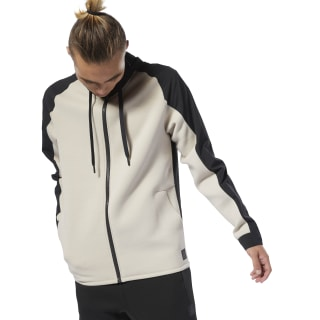Training Supply Hoodie met Rits Light Sand DU3706