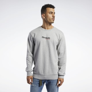 Classics Gold Crew Sweatshirt Medium Grey Heather FM3969