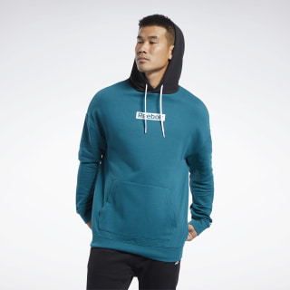 Training Essentials Linear Logo Hoodie Heritage Teal FJ4680