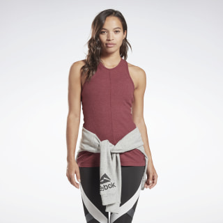 Training Essentials Ribbed Tank Top Lux Maroon EC2337