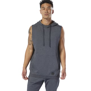 Combat Legacy Sleeveless Hoodie Dark Grey Heather DU4973
