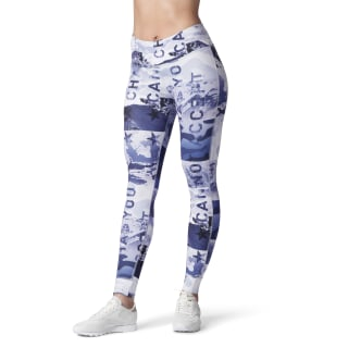 ONE SERIES LUXE WINTER ALL-OVER-PRINT TIGHT Cloud Grey DY0231