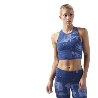 LES MILLS Tank Washed Blue CD6213