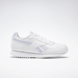Reebok Royal Glide Ripple Shoes White / Lucid Lilac DV9193