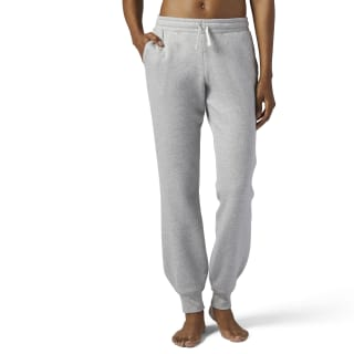 Pantaloni Training Essentials Fleece Medium Grey Heather BS4148