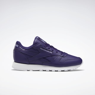 Classic Leather Shoes Mystic Orchid / White / Violet Haze EF3035