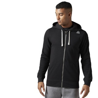 Hoodie de felpa francesa con zipper completo Training Essentials Black BK5065