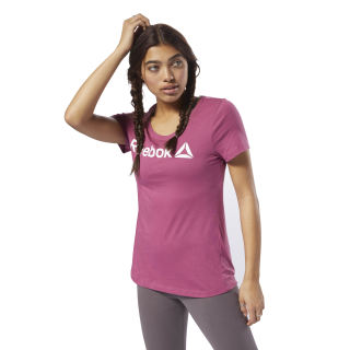 REEBOK LINEAR READ SCOOP NECK Twisted Berry / White DH3734
