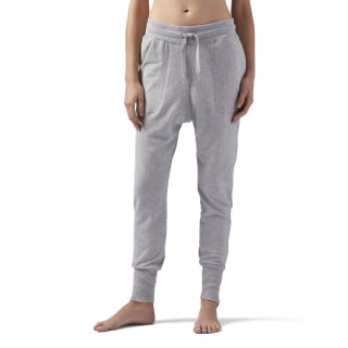 High Waisted cotton Jogger Medium Grey Heather CE2288