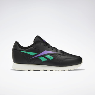Classic Leather Women's Shoes Black / Emerald / Grape Punch EF8237