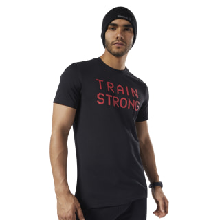 Graphic Series Train Strong Tee Black EC2065