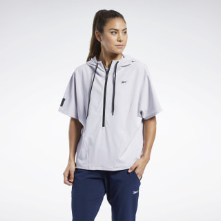 United by Fitness Woven Pullover Sterling Grey FJ5302