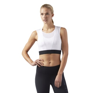 LES MILLS Cropped Tanktop White CD6215