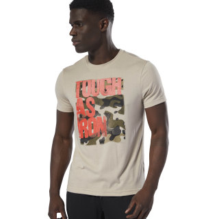 T-shirt à col rond Tough As Iron Light Sand DU4684